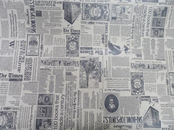 Бумага флористическая Газета Times белая (1)