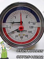 Термоманометр к автоклаву на 6 Бар в металлическом корпусе, 2 в 1