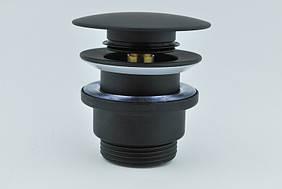 Донный клапан черный TOPAZ TK-15A-BL Click-clack латунь