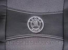 Чохли Nika Skoda Rapid чорні з задні цільним сидінням