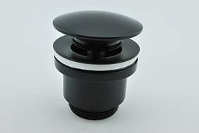 Донный клапан черный Frap F 62-7 Click-clack латунь