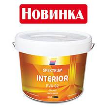 Краска матовая белая Spektrum Interior 02 база Hvit, 10 л