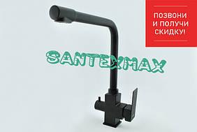 Смеситель на кухню черный Mixxus Kub 021 black под фильтр