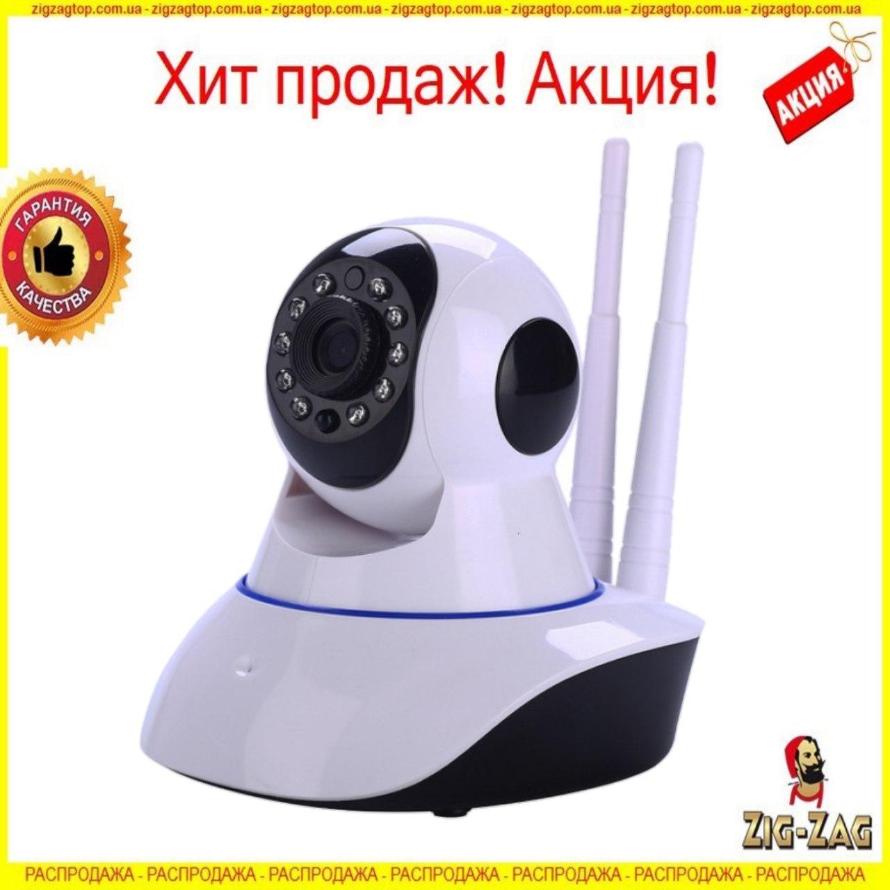 Бездротова IP Камера Q5 відеоспостереження WI-FI Камера онлайн Поворотна із Записом Нічне Бачення вай фай NEW!