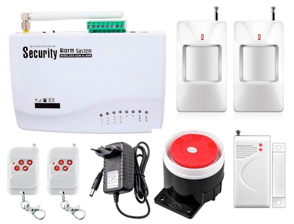 GSM сигнализация охранная Kerui alarm G01 для 1-комнатной квартиры, для дачи, для дома, малое