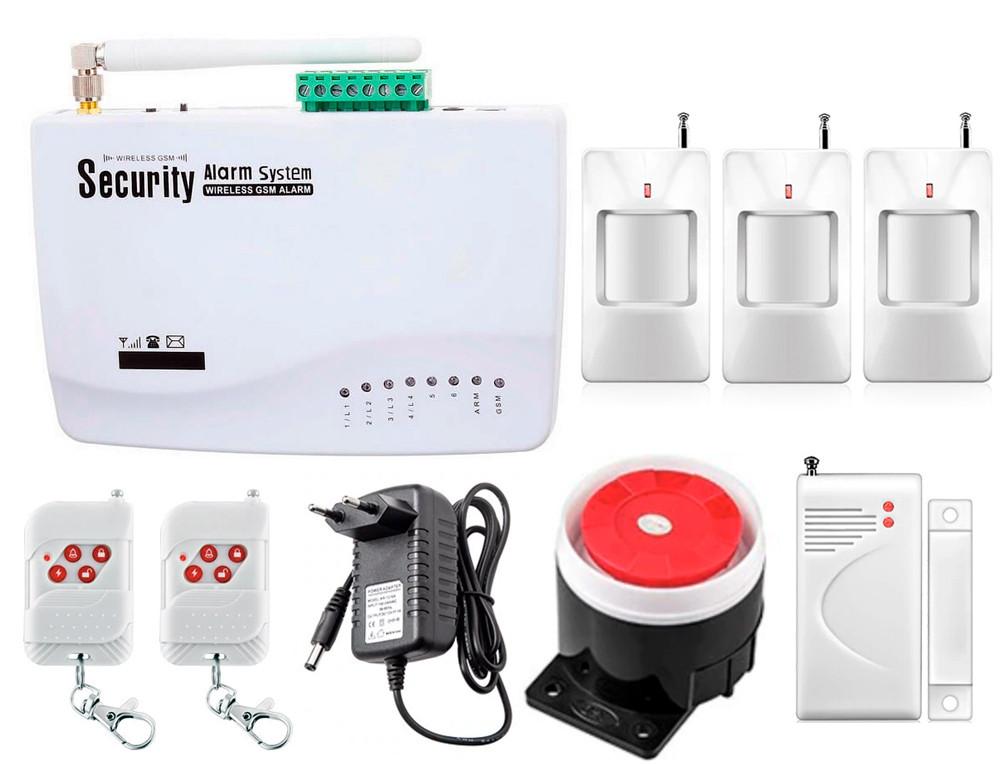 Комплект сигналізації Kerui G01 для 2-кімнатної квартири