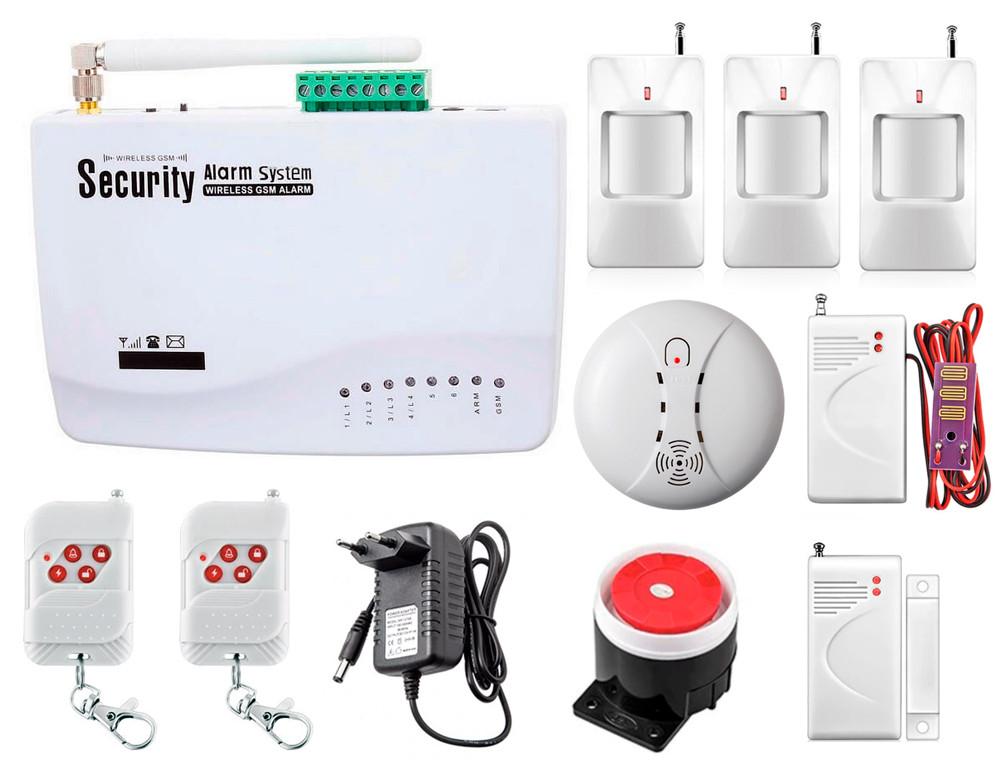 GSM сигнализация охранная Kerui alarm G01 Pro для 2-комнатной квартиры, для дачи, для дома, малое