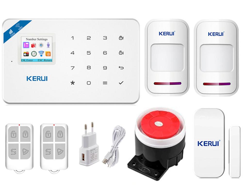 Комплект сигналізації Kerui Wi-Fi W18 для 1-кімнатної квартири