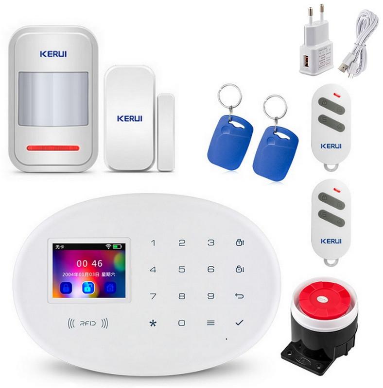 GSM сигнализация охранная Kerui alarm W20 с Wi-Fi Start, для квартиры, для дачи, для дома, для гаража, малое