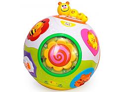 """Розвиваюча іграшка Веселий куля 938 (12/2) """"Hola"""", обертається, світлові і звукові ефекти, англ. озвучування,"""