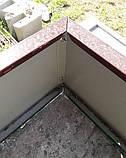 Оцинкованная грядка Mavens, 120х120х19 см., коричневый, бордюр для грядок, высокая грядка, клумба, ограждение, фото 2