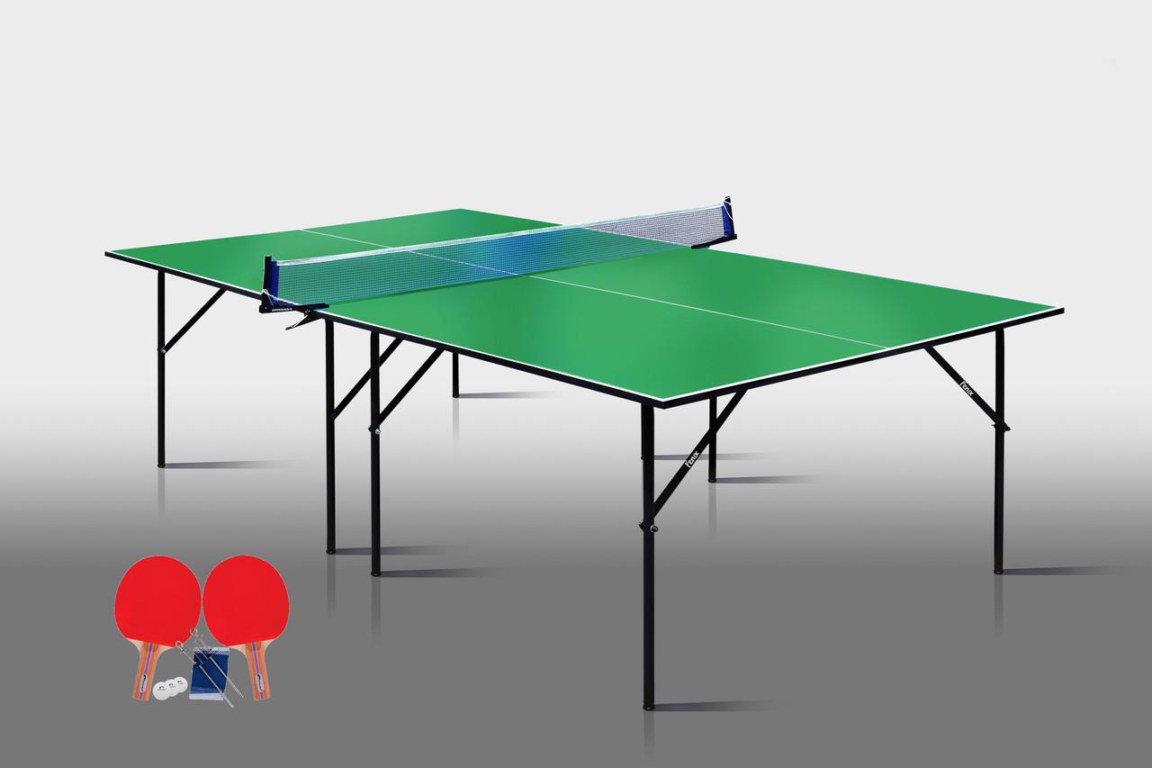 Теннисный стол для помещений «Феникс» Start M16 зеленый, (026-0004)