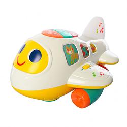 """Літак 6103 (12/2) """"Hola"""", світло, звук, довільне рух, озвучка на англ.мовою, в коробці"""