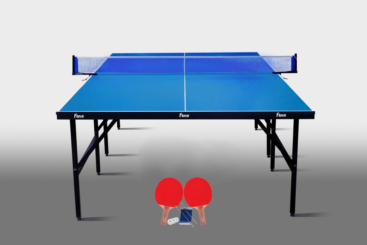 Теннисный стол для помещений «Феникс» Basic Sport M16 синий, (026-0011)