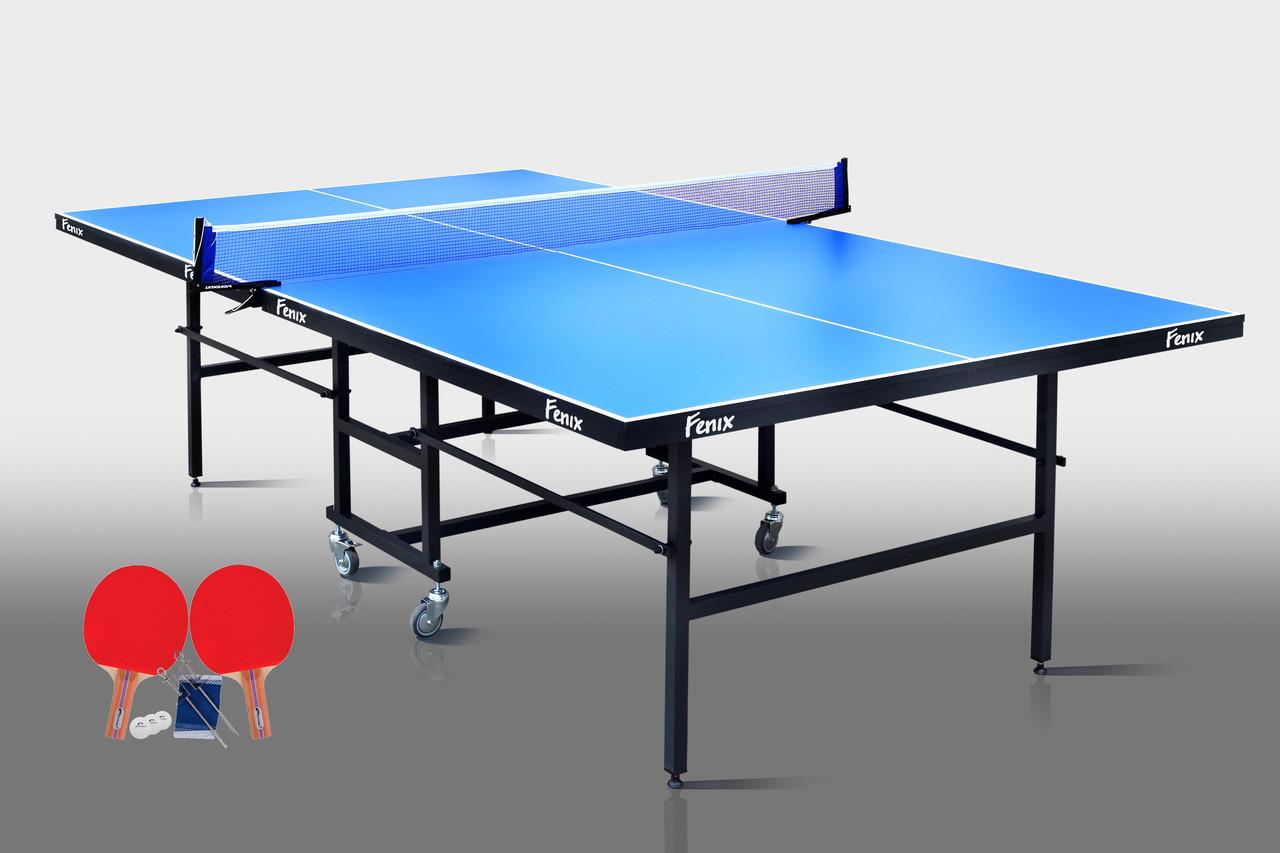 Тенісний стіл для приміщень «Фенікс» Home Sport M16 синій, (026-0019)