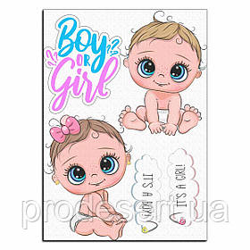 Boy or Girl гендер паті 4 вафельна картинка