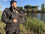"""Зимовий костюм до -40° """"Mavens Сибір"""" Чорний, для риболовлі, полювання, роботи в холоді, розмір 48-50 (031-0031), фото 2"""