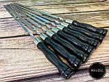 """Набор шампуров Mavens """"Black"""" с деревянной ручкой, 7 шт, фото 2"""