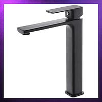 Смеситель для умывальника и ванны HAIBA KUBUS Черный Черный кран для раковины одноручный