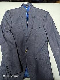 Пиджак подростковый красивый для мальчика. Размеры 158.164.170.176.180 рост. Ворот- стойка.