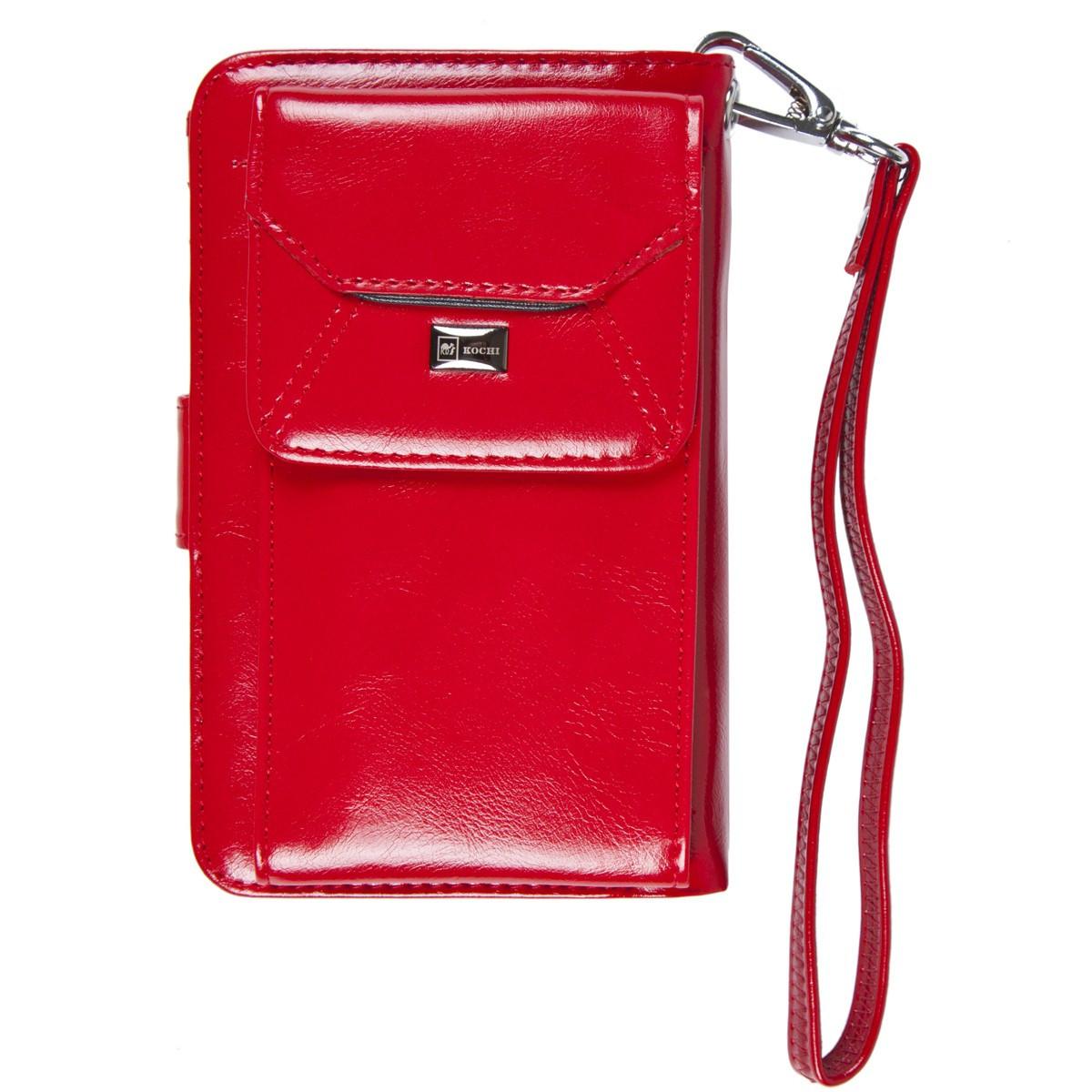 Барсетка-гаманець KOCHI 95х148х35 застібка кнопка коричнева  м 06-9004-3кор