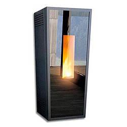 Котел-піч пелетний Alfa-Plam Forma Glass 12 кВт повітряного опалення(Сербія)