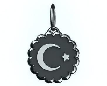 Кулон серебряный Полумесяц со звездой 60116