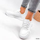 Жіночі кросівки на масивній підошві білі Jintu Sports, фото 4