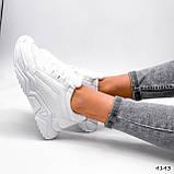 Жіночі кросівки на масивній підошві білі Jintu Sports, фото 6