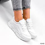 Жіночі кросівки на масивній підошві білі Jintu Sports, фото 5