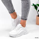 Жіночі кросівки на масивній підошві білі Jintu Sports, фото 2