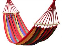 Гамак з планкою для відпочинку з чохлом 190х100см до 150 кг з чохлом | Гамак-гойдалка підвісна бавовна для дачі саду