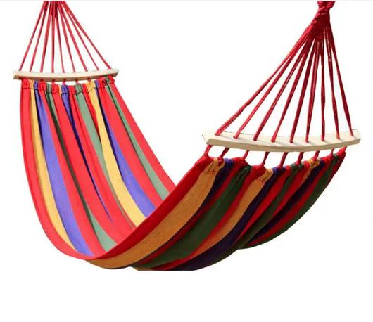 Гамак з планкою для відпочинку з чохлом 190х150см до 150 кг з чохлом   Гамак-гойдалка підвісна бавовна для дачі саду