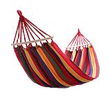 Гамак з планкою для відпочинку з чохлом 190х150см до 150 кг з чохлом   Гамак-гойдалка підвісна бавовна для дачі саду, фото 2