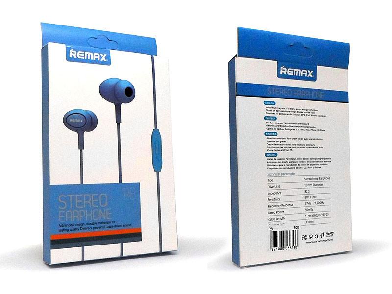 Навушники вакуумні з мікрофоном Remax 500шт R8