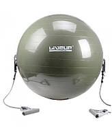 Фитбол с эспандером LiveUp Gym Ball With Expander 65 см (LS3227) Green