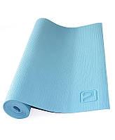 Коврик для йоги LiveUp PVC Yoga Mat (LS3231-04b) Blue 173x61x0,4 см, фото 1
