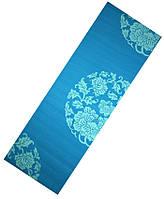 Коврик для йоги LiveUp PVC Yoga Mat With Print (LS3231c-06b) Blue 173x61x0,6 см