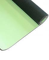 Коврик для йоги LiveUp Tpe Yoga Mat (LS3237-04g) Green/Gray 173x61x0,4 см