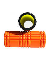 Ролик для йоги LiveUp Yoga Roller (LS3768-o) Orange 32x15 см