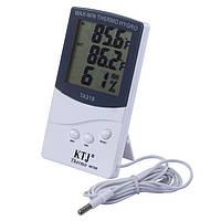Гігрометр-термометр з виносним датчиком температури TA 318 Білий