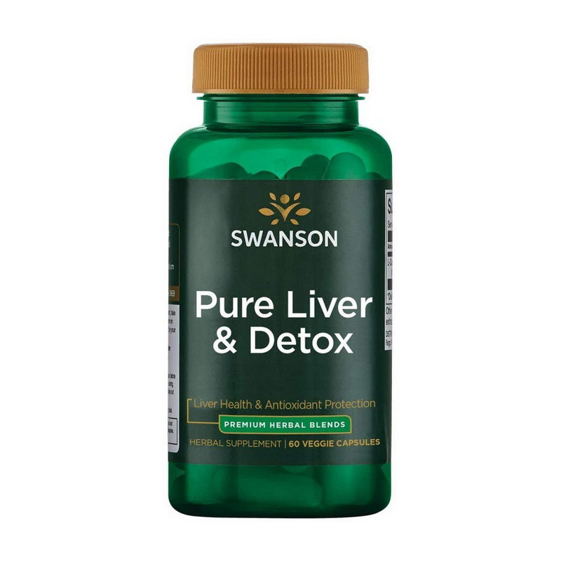Добавка для поддержки и детоксикации печени Свансон / Swanson Pure Liver & Detox (60 veg caps)
