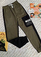 Трикотажные спортивные брюки  для мальчиков 12-16 лет