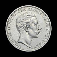 Німеччина 3 Марки 1909 Вільгельм ІІ, Пруссія