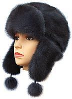 Зимняя шапка ушанка женская   Цвет ирис