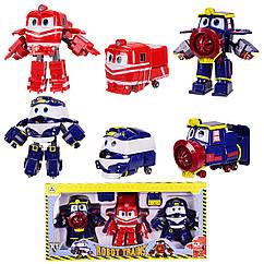 Набір Трансформерів Роботи Поїзда, Robot Trains 83168-3 3шт в кор, іграшки набори, фігурки robot trains