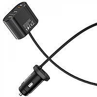 Автомобильное зарядное устройство HOCO Z35 (3USB / TYPE-C) BLACK
