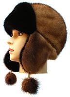 Зимняя шапка ушанка женская   Цвет деграде