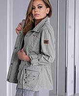 Женская куртка Sunny хлопковый хаки в стиле сафари
