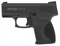 Пистолет стартовый Retay P114. 9 мм. black.